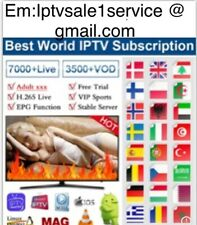 Smart IP**TV 12 months subs (M3U SMART TV ANDROID,MAG,firestick )24h free trial