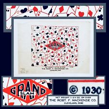 Historical 1930 Robt F Mackenzie GRAND SLAM Candy Wrapper AUTHENTIC Cleveland