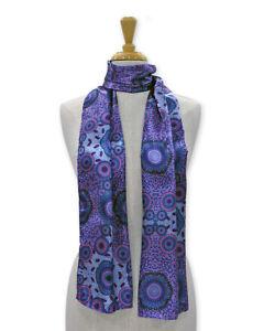 Warrina Designs Polyester Scarf  Authentic Australian Aboriginal Design Art Bush