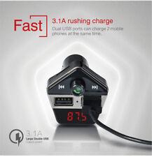 Car MP3 FM Transmitter Player Bluetooth Handfree Kit Dual USB Fast Charger Radio