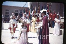 1950s Kodachrome photo slide Vallejo CA Teenage boys and girls school #6