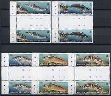 BRIT. ANTARKTIS BAT ANTARCTIC 1999 Fische Fishes Poissons Stegpaare 288-292 **