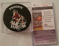 JSA COA MIKE RICCI SIGNED RARE VINTAGE PHOENIX COYOTES NHL OFFICIAL HOCKEY PUCK