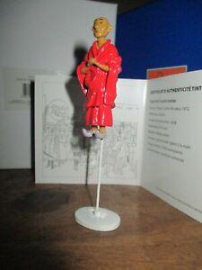 Moulinsart&Tintin-Carte de voeux 1972-Figurine Foudre bénie-boite&certificat