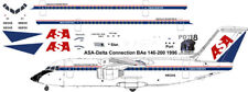 NEW Release ASA-Delta Connection BAe 146-200 decals for Revell 1/144 kits