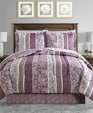 Sunham 6-Piece TWIN Comforter Set Martina Reversible PURPLE E06022