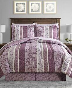 Sunham 6-Piece TWIN Comforter Set Martina Reversible PURPLE E06022