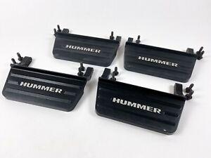 03-09 Hummer H2 OEM LE Steps FULL SET of 4 Black with Silver HUMMER