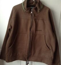 Mens Large Brown Duck And Cover Jacket 100% Cotton
