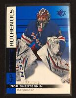 IGOR SHESTERKIN RC 2019-20 SP Authentics Hockey NY Rangers Blue #104