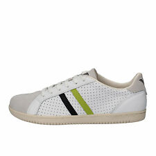men's shoes ARMANI JEANS 9 (EU 42,5) sneakers white leather suede AE404-C
