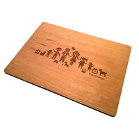 4 Personalised Wooden Table Mats Great Gift Present wedding birthday Mothers Day