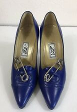 Rare Vtg Gianni Versace New Blue Safety Pin Heels W/Box SS1994