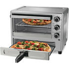Oster Turbo Convection Toaster Oven w/ Pizza Drawer, Stainless Steel (Open Box) photo