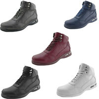 Men's Sneakers, High Top Sneaker Boots - Casual Sneakers w/ Bubble Bottom Soles