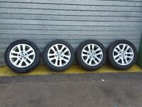 "BMW 3 SERIES E90 E91 E92 320D '05 SET OF 16"" ALLOY WHEELS WITH TYRES 205/55/16"