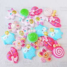 20 Mix Cute Shabby Chic Resin Flatbacks Craft Cardmaking Embellishments