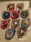 Vintage Hand Decorated Christmas Ornaments By European Craftsmen Indents In box