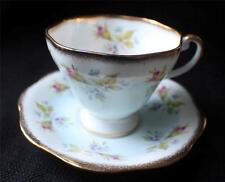 Vintage FOLEY Bone China England Pink Blue FLOWERS Pattern #3848 Cup & Saucer