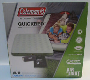 Coleman Quickbed, queen Grand Lit air bed, Air tight, wrap and roll, double lock