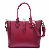Womens Ladies Designer Leather Satchel Flap Handbag Tote Shoulder Celebrity Bag