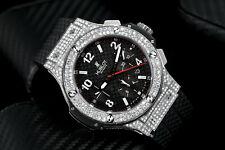 Hublot 301.SX.130.RX Big Bang Diamond Watch Black Dial on Rubber Strap