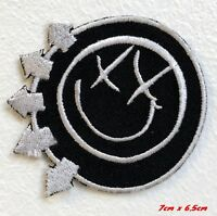 Blink 182 Rock Band Logo red Embroidered Iron Sew on Patch applique #960