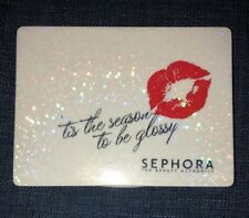 ONE SEPHORA Hinged Compact Mirror lips white glitter Double Sided collectible