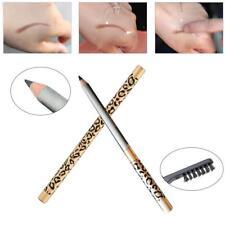 Professional Eyebrow Pencil Liner Comb Waterproof Makeup Pen With Brush Grey S