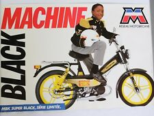 AFFICHE ORIGINALE MOTOBECANE MOBYLETTE super BLACK MACHINE ltd BLACKSPLOITATION