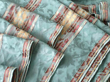 Vintage Green Brocade Awning Upholstery Damask Soft Furnishing Fabric cotton