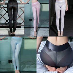 Transparent leggings ass