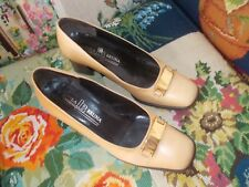 designer shoes by linea bruna deep cream all leather 36.5