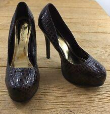 Shoe Dazzle Womens Size 8.5 Shoes Pumps High Heels Brown Bliss Platform