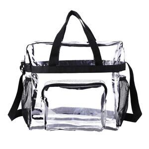 Clear Waterproof Zippered Shoulder Bag for Men Women Shopping Beach Travel SY