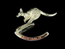 Australian Souvenir Australia Kangaroo Rocking Solid Metal Paper Weight