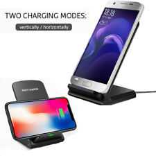 Desktop Qi Wireless Charger Pad Fast Charging Dock Stand for IPhone X/XS Samsung