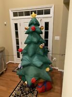 Giant 8 Foot Airblown Inflatable Christmas Tree Lighted  By Gemmy Holiday