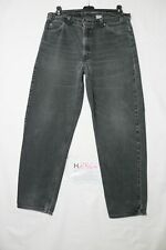 Levi's BOYFRIEND usato (Cod.H2864) W34 L32 denim jeans baggy nero