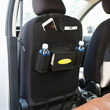1x Felt Auto Car Seat Back Protector Cover Storage Holder Organizer Black