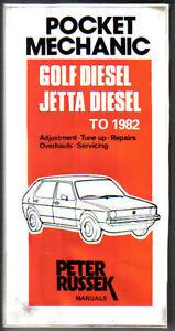 VW Golf & Jetta Diesel to 1982 Pocket Mechanic Repairs Tune up Russek Manual