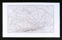 1859 Dufour Map Danube Valley Austria Germany Bohemia