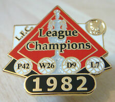 LIVERPOOL FC Victory Pins 1982 LEAGUE CHAMPIONS Badge Maker Danbury Mint