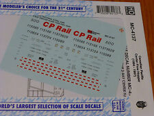 Microscale Decal HO  #MC-4137 CP Hopper - Center Flow - 3-Bay - CP Rail Dates:19