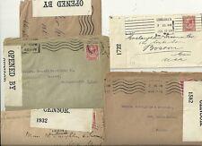 1917/18 5 x diff OUVERT PAR CENSURE étiquettes WW1 Go mails à Boston & Everett USA