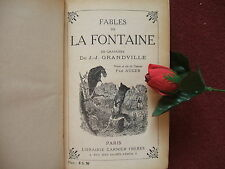 GRANDVILLE : FABLES DE LA FONTAINE  vers 1922: AVEC 250 DESSINS