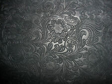 "Suede Leather 15"" x15"" Etched Black Daisy Floral Cowhide full hides available"