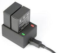 2 X 1680mAh AHDBT-301 201 Battery + USB Charger Kit for GoPro HD Hero 3 3+ Black