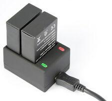 2 X 1680mah Ahdbt-302 Ahdbt-301 Battery for GoPro HD Hero3 Dual Charger Black