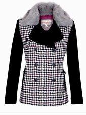 Jack Murphy British Shetland Wool Ladies Ebony Tweed Jacket Size 12,Or 14